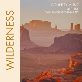 country music album design template