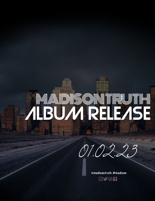 Country Music Album Release Flyer template