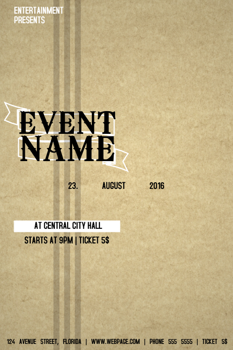 Country Music Band Event Flyer Template Postermywall