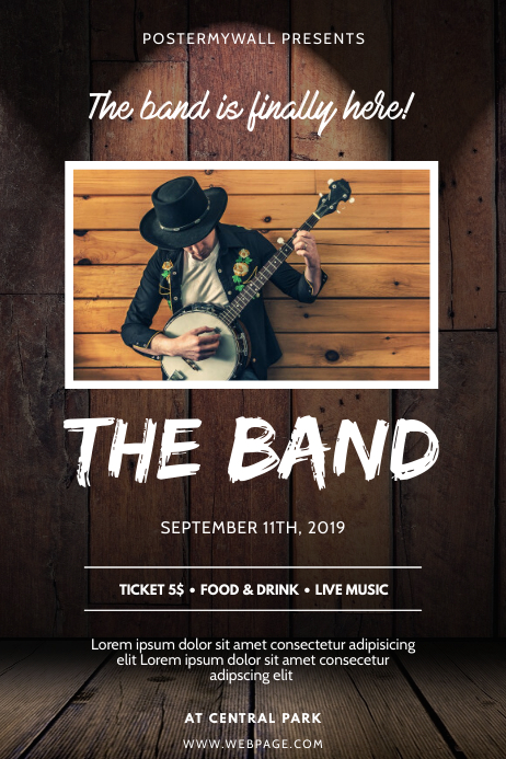 Country Music Band Flyer Design Template Plakat