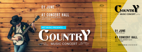 Country Music Concert Ticket Template