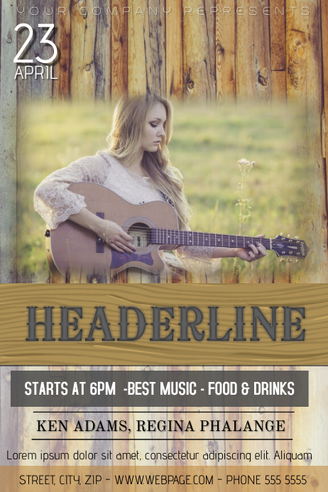 COUNTRY MUSIC EVENT FLYER TEMPLATE