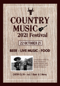 Country Music Festival Event Western trucker