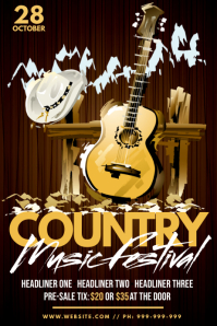 Country Music Festival Poster
