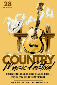 Country Music Festival Poster template