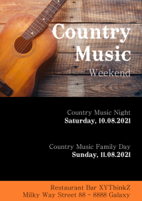 Country Music Festival Weekend Party Event ad