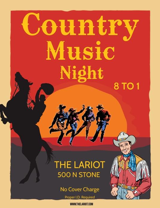 country music night 传单(美国信函) template