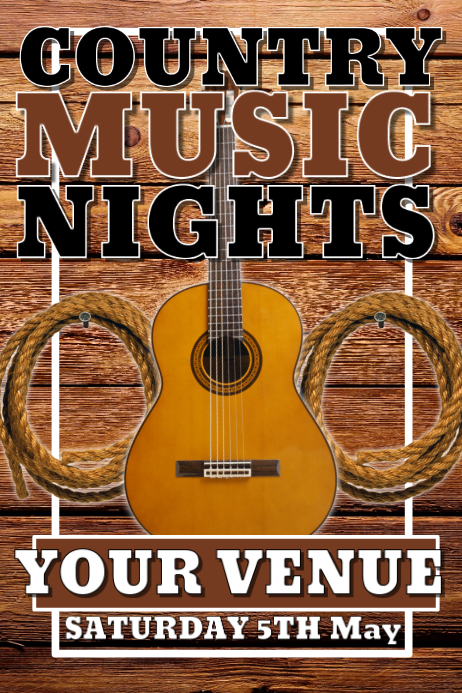 Country Music Night Poster 海报 template