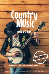 Country Music Flyer Template Poster