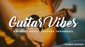 country music youtube thumbnail template