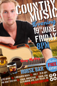 Country Musical Evening Poster