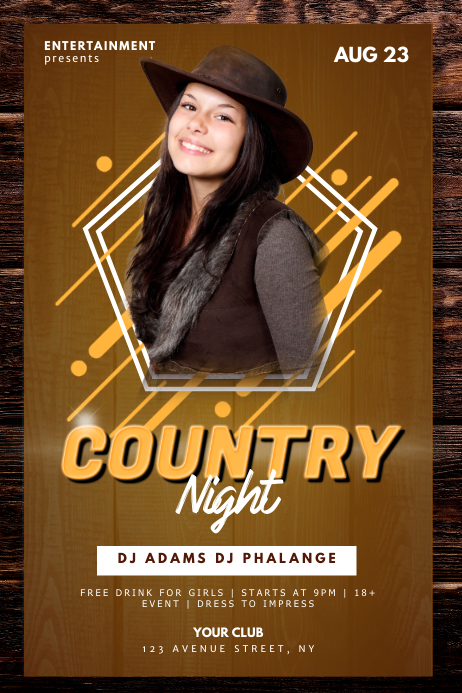 Country Night Flyer Template Cartaz