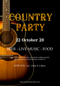Country Party Event Festival Music Band Rodeo A4 template