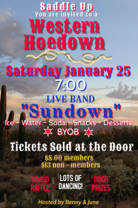 Country Western Hoedown Invitation