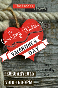 Country Western Valentines Poster Template