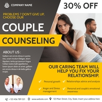 couple counseling advertising health Instagram-bericht template