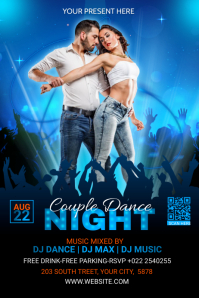 Couple Dance Party Template Banner 4' × 6'
