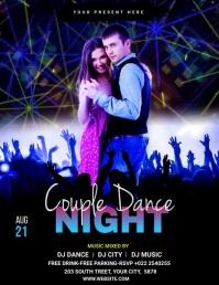 Couple Dance Party Template Volante (Carta US)