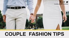couple fashion tips youtube video thumbnail YouTube-miniature template
