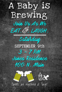 Couples Brewing Baby Shower Invite