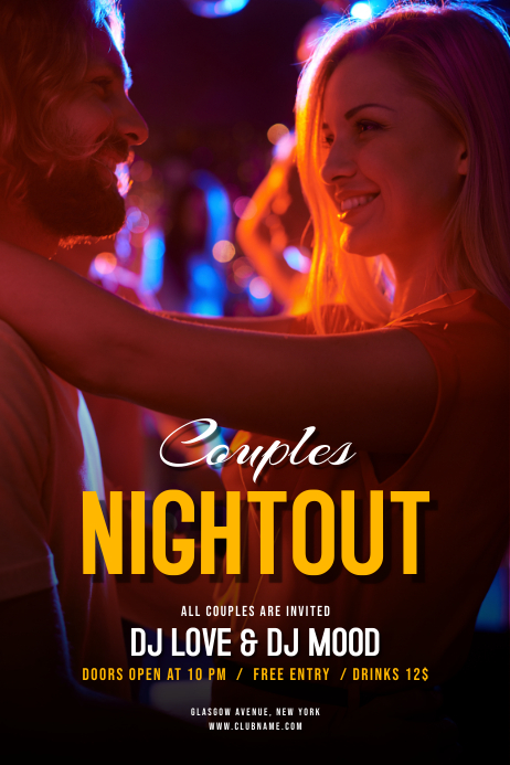 Couples Night Out Party Flyer