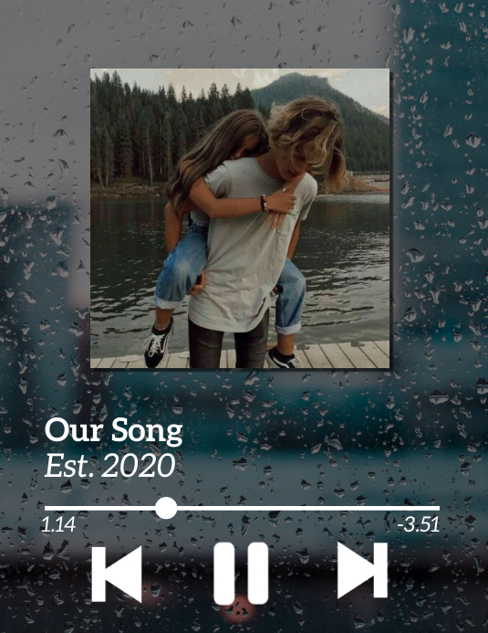 Couples Song Playlist Løbeseddel (US Letter) template