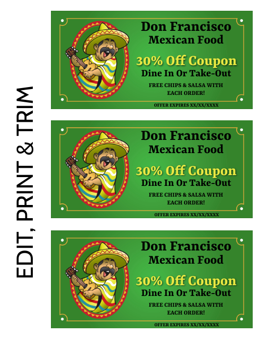 COUPON Flyer (US Letter) template