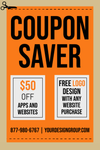 COUPON FLYER Poster template