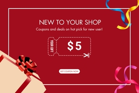 Coupon gift for new user Label template