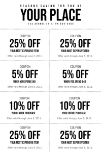 Coupon Template Poster