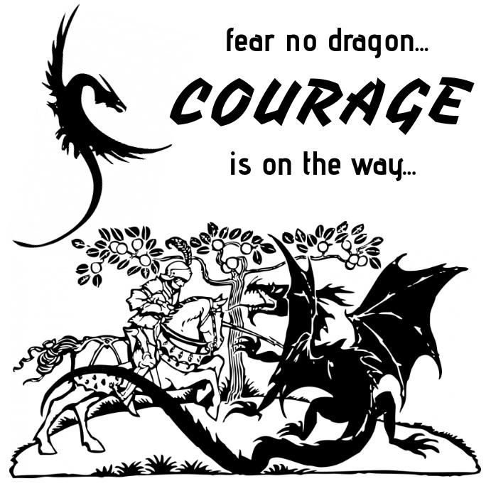 Courage inspiration template Instagram-opslag