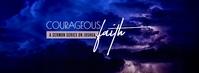 Courageous faith Joshua Sermon Series Portada de Facebook template