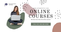 Course online Facebook ad template