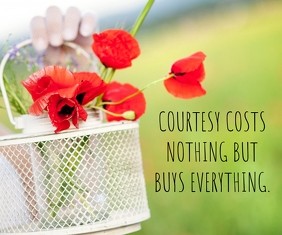 COURTESY AND EVERYTHING QUOTE TEMPLATE สามเหลี่ยมขนาดใหญ่