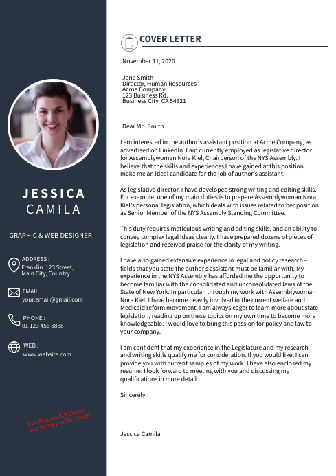 Cover Letter Resume Cv Design Template Postermywall