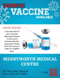 COVID 19, Vaccine Folder (US Letter) template