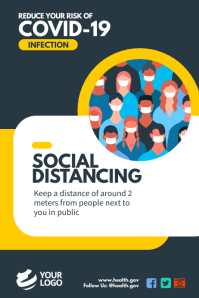 Covid-19 Awareness Social Distancing Poster