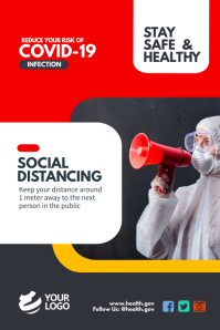 Covid-19 Awareness Social Distancing Poster