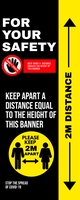 COVID 19 BANNER Oprolbanier 2'×5' template