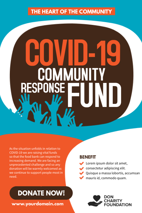Covid-19 Community response fund Poster template