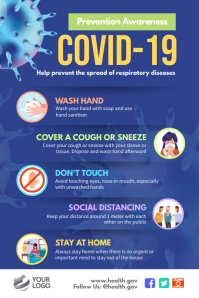 Covid-19 Corona Virus Awareness Poster