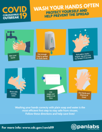 Covid-19 Corona Virus Wash Hands Flyer