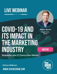 Covid 19 Coronavirus Live Webinar Online Post Flyer (US Letter) template