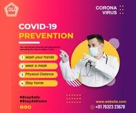 covid 19 中型广告 template