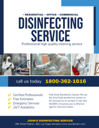 Covid-19 Disinfecting Cleaning Service Poster