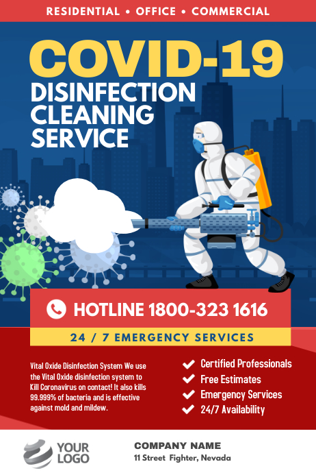 Covid-19 Disinfection Cleaning Service Plakkaat template