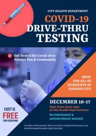 Covid-19 Drive-Thru Testing Flyer A4 template
