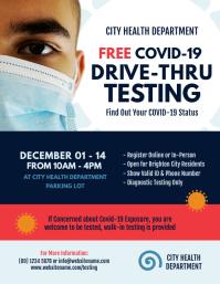 Covid-19 Drive-thru Testing Flyer template