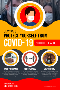 Covid-19 Flyer Poster template