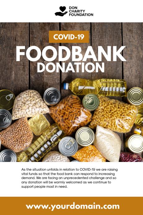 Covid-19 Food Bank Donation Cartaz template